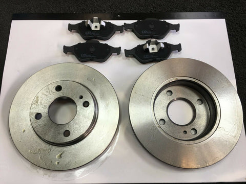 FORD FIESTA MK7 B299 1.2 1.3 1.4 1.4D 1.6 FRONT BRAKE DISCS & PADS 2008 ON NEW