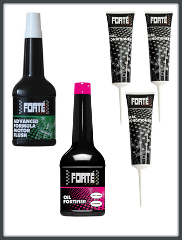 Forte Bundle (Seal Conditioner, Oil Fortifier + Motor Flush)