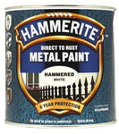 Hammerite 040 METAL PAINT HAMMERED WHITE 2.5L