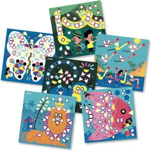 Kit 6 cartes + 360 gommettes repositionnables Animaux
