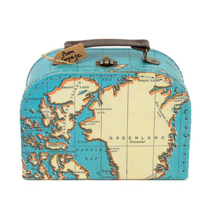 Mini Valise Vintage Map