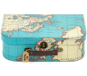 Grande Valise Vintage Map