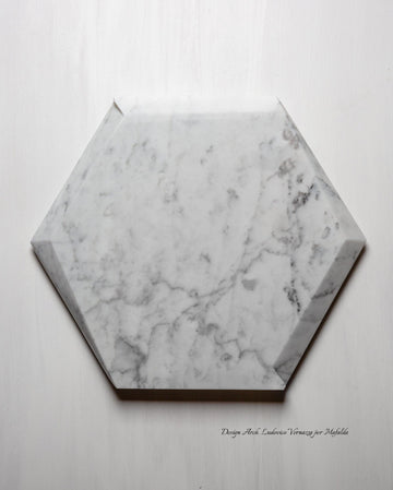 Vassoio hexagon Marmo Cattani - Carrara