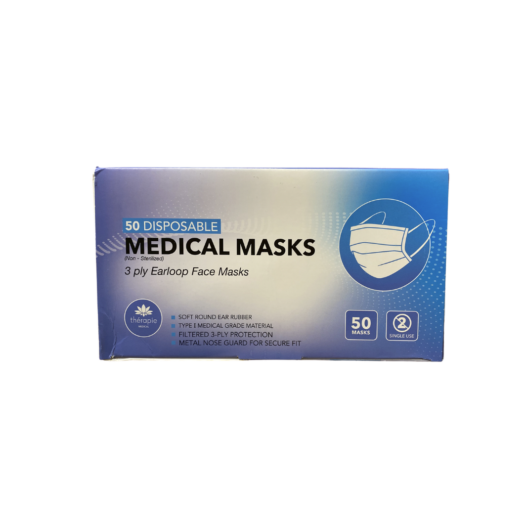 3 Ply Disposable Face Mask [50 per box]
