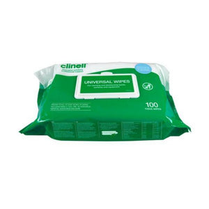 Clinell Universal Wipes -  Extra Thick [100 per pack]