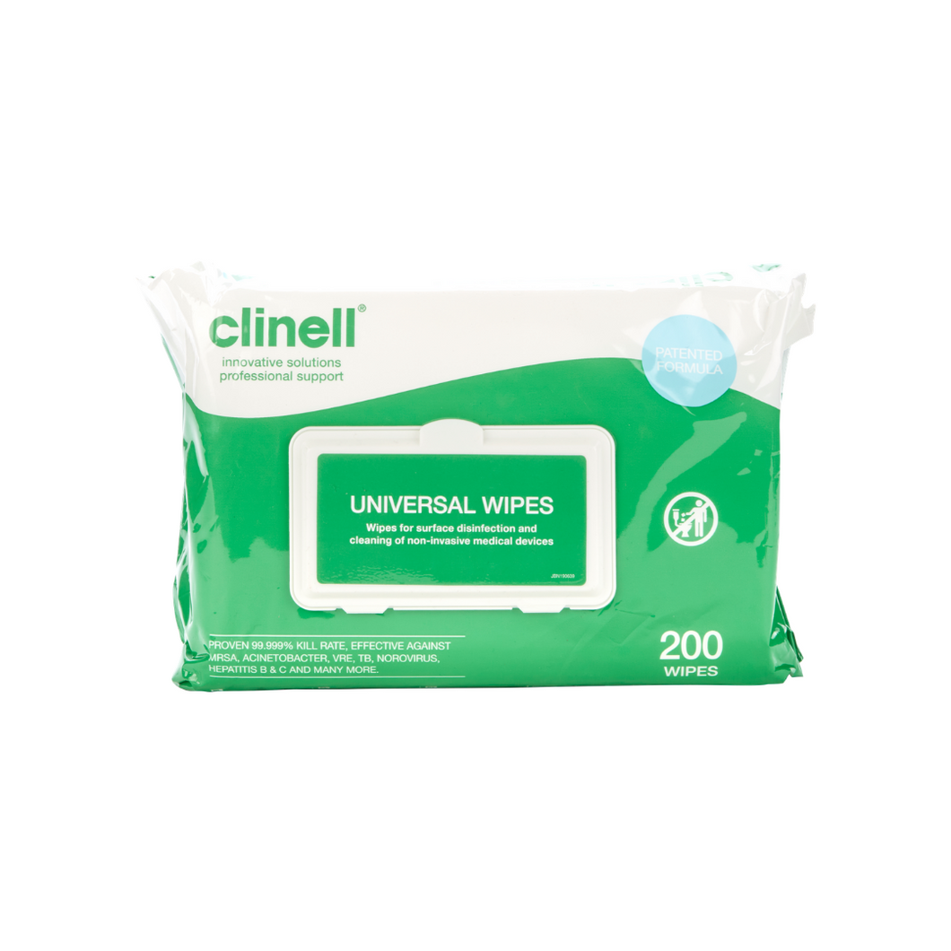 Clinell Universal Wipes [200 per pack]