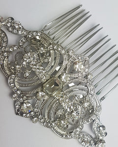 The Legacy Silver and Crystal Comb
