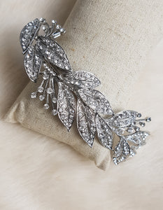 Henrietta Silver Leaf Headpiece