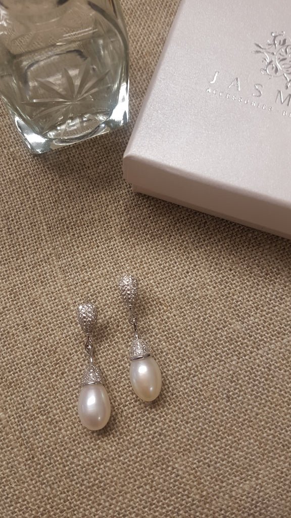 Davinia Silver Drop Earrings