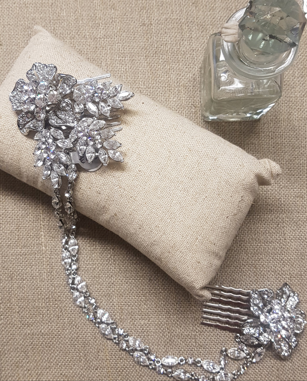 Sienna Silver and Crystal Drape