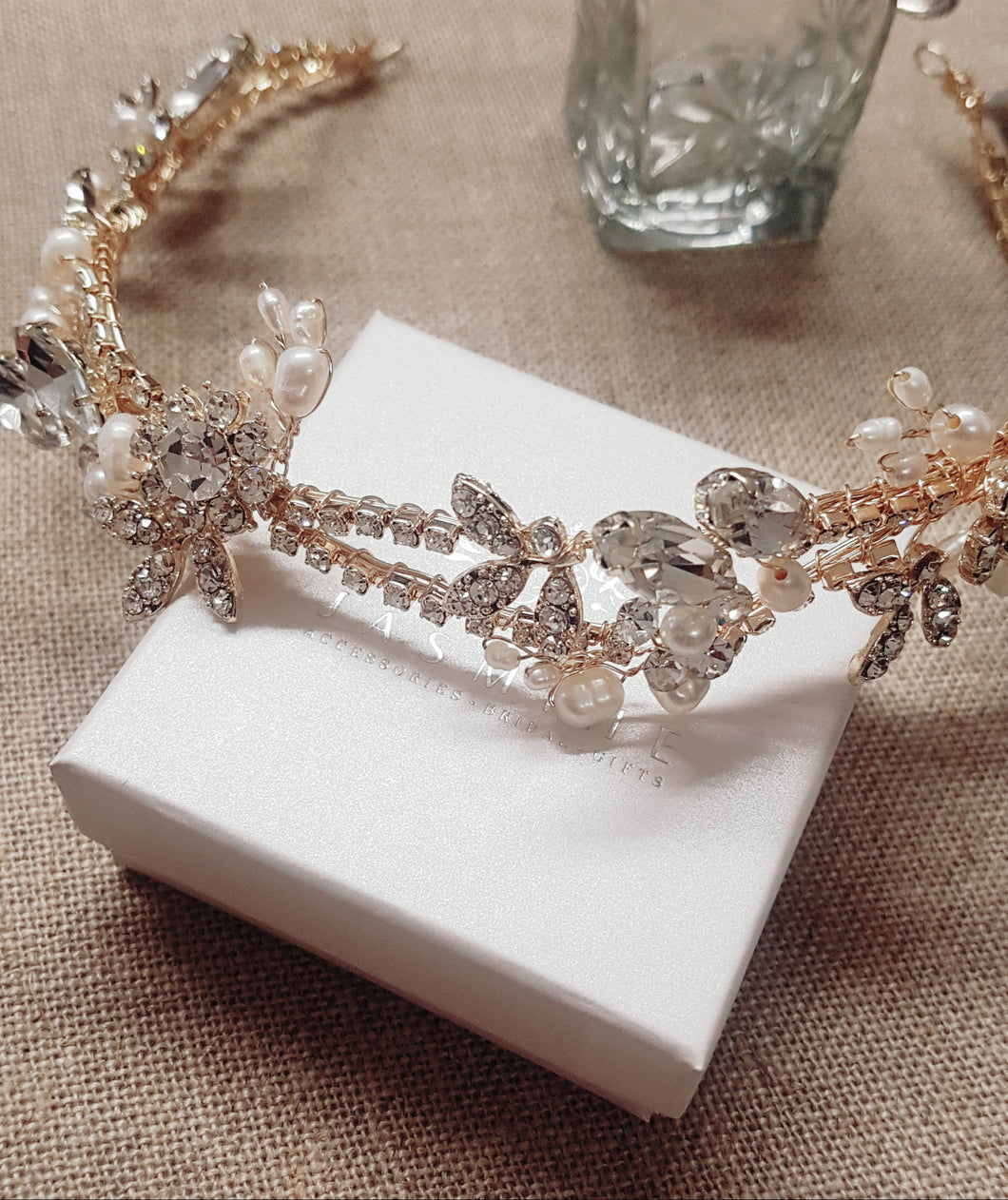 Grace Gold and Pearl Headpiece