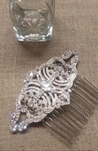 Load image into Gallery viewer, The Legacy Silver and Crystal Comb