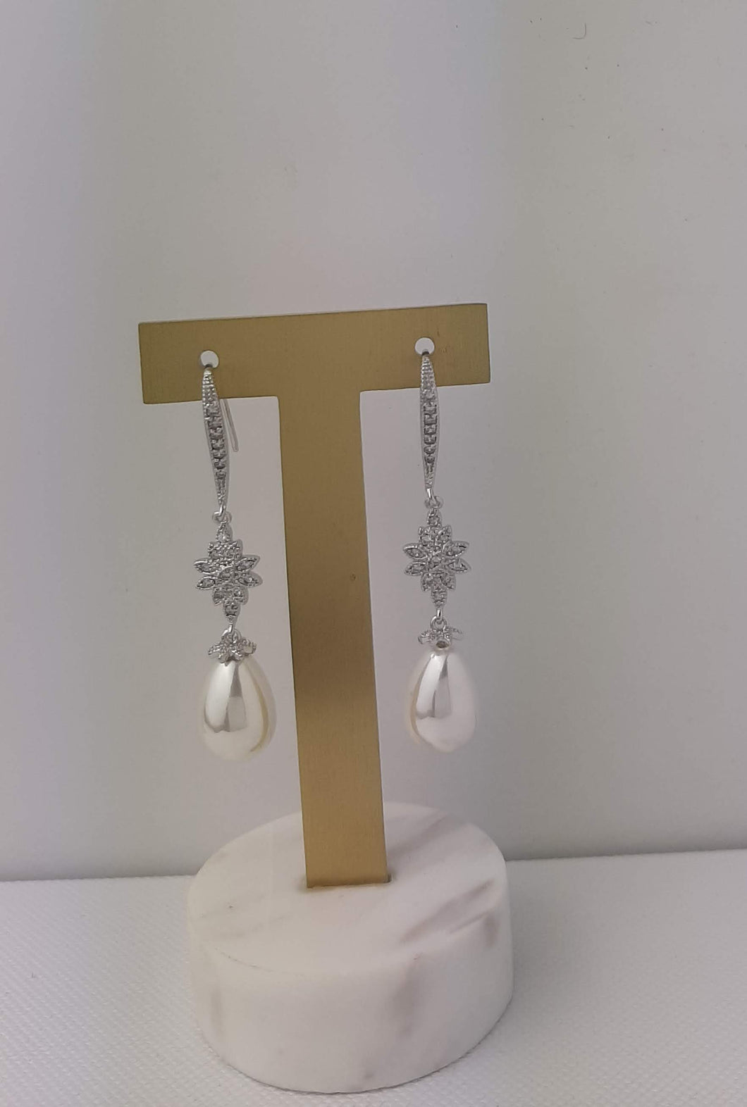 Long Crystal and Pearl Drops