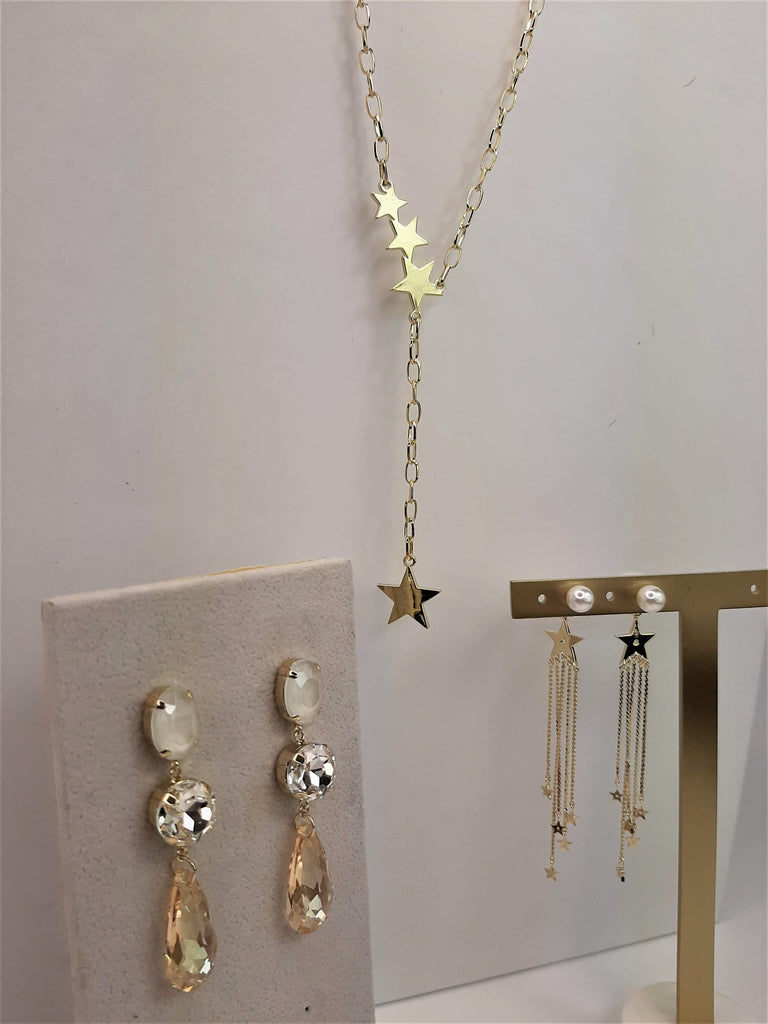 Pearl and Stars Earring