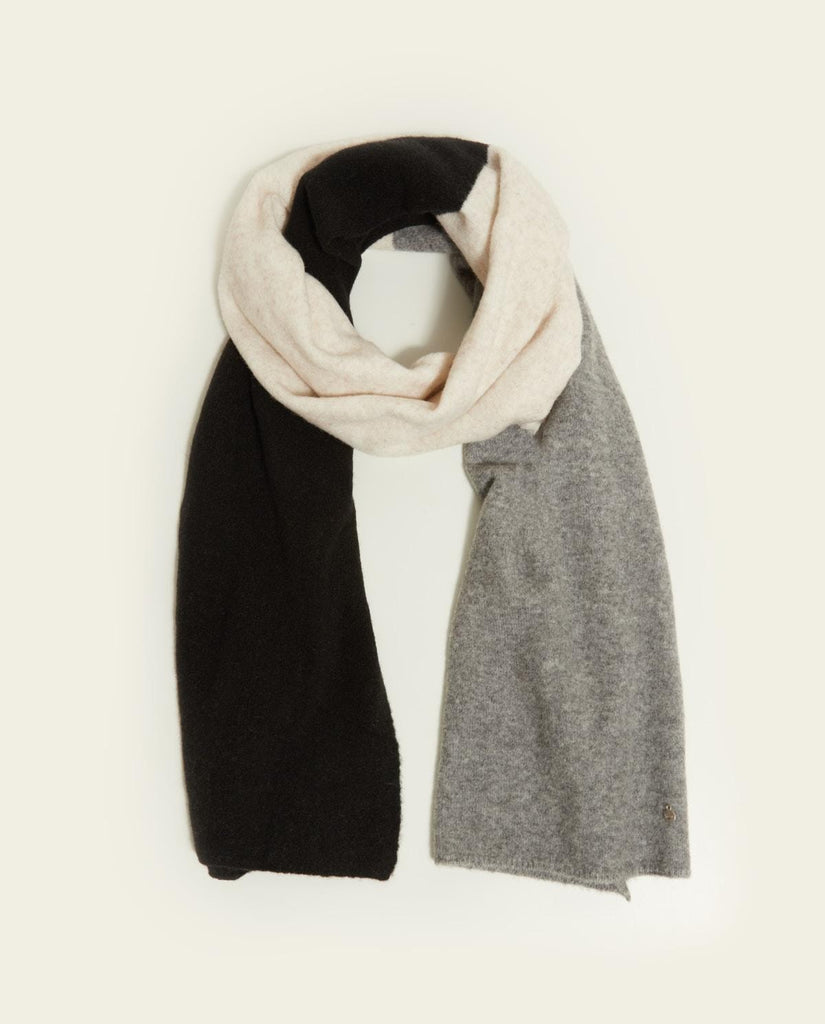 Grey, Cream and Black Wool Scarf