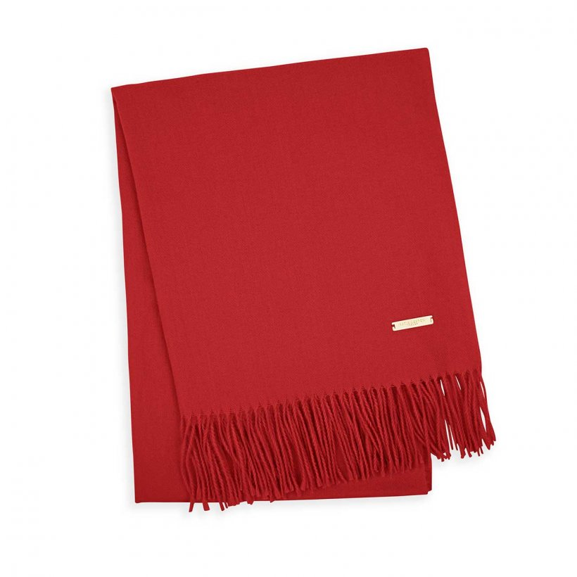 Cherry Red Soft Scarf - Boxed