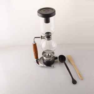 Siphon type manual coffee machine