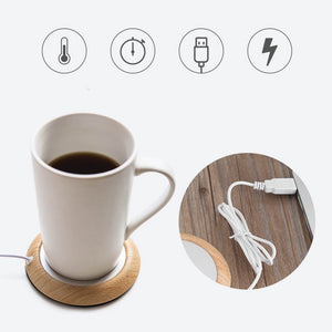Original USB Wood Grain Cup Warmer