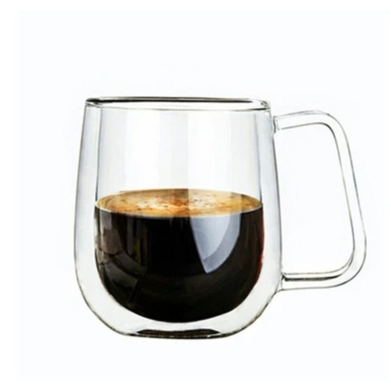 Heat Resistant Double Wall Glass Coffe Cup, Espresso Cup