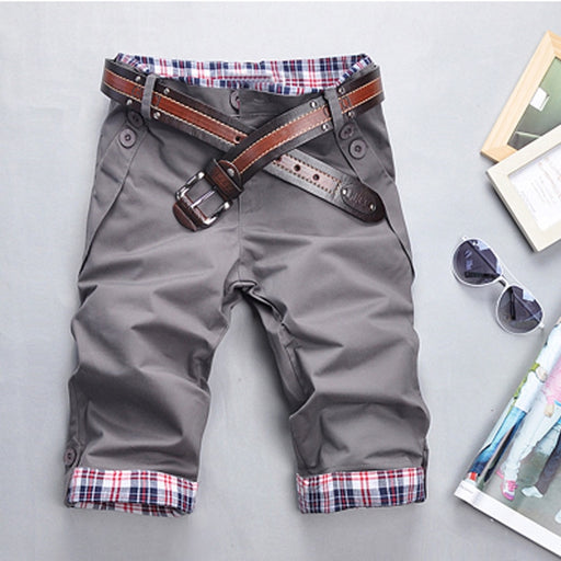 Mens Checkered Cargo Shorts