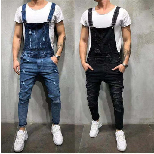 Mens Distressed Jumpsuit