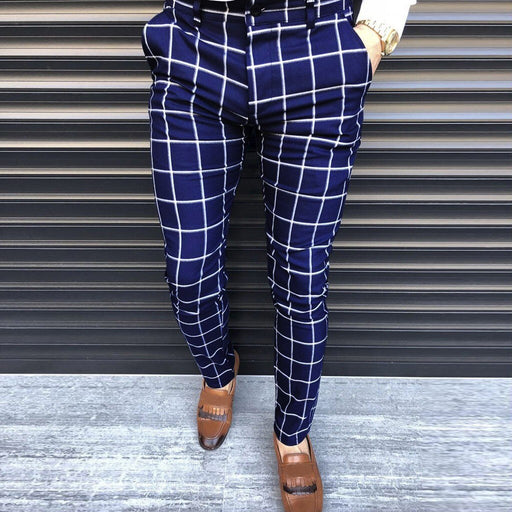 Mens Plaid Print pants