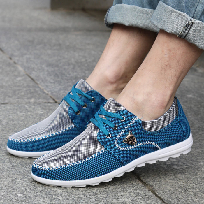 Mens Cross Stitched Loafers