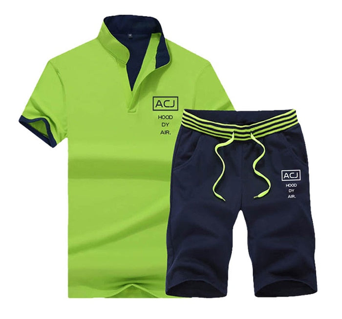 Mens Slyvie Shirt and Shorts Set