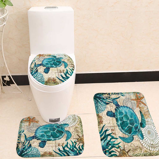 Drea Toilet Seat Cover and Mats Set