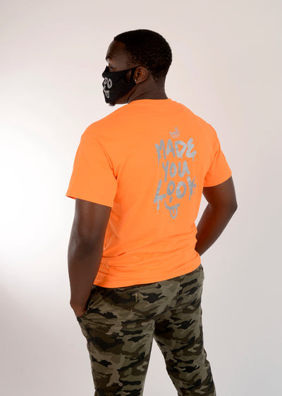 Back view of the Orange tee