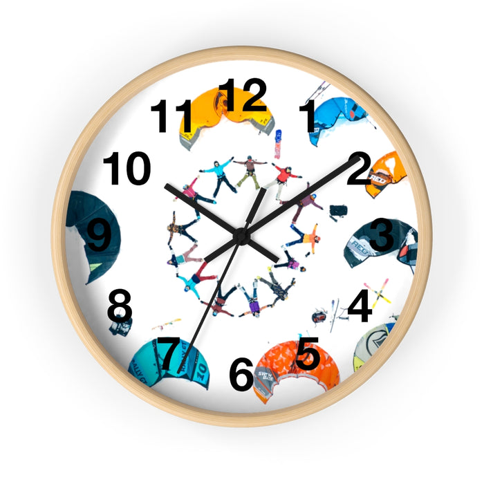 Women's Snowkite Wall clock