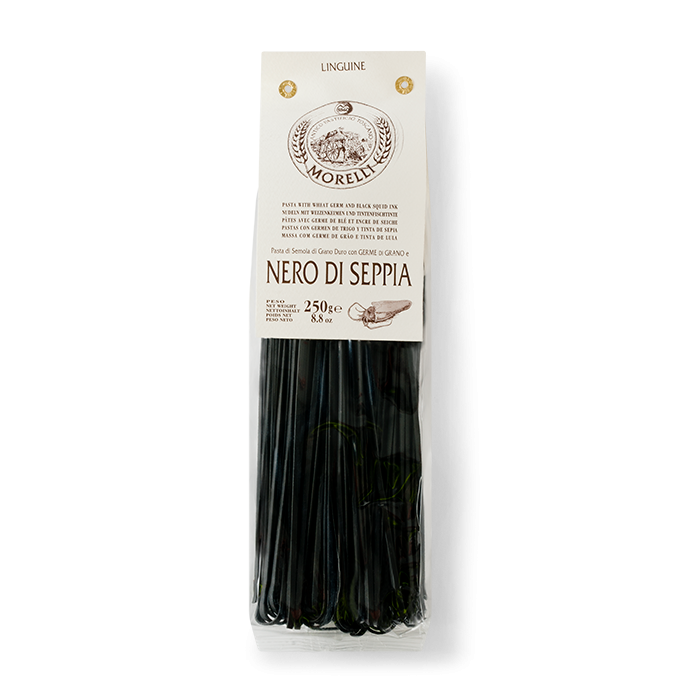 Morelli Linguine al Nero di Seppia (Squid Ink Linguine) 250g