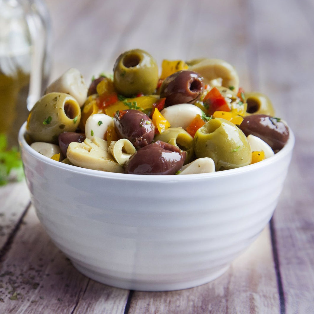 Party Oliva (Mixed Pitted Olives & Garlic Cloves) 1kg