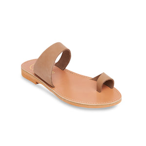 nubuck leather sandals on nude