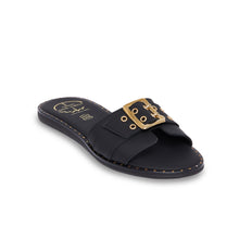 Load image into Gallery viewer, black women leather sandals
