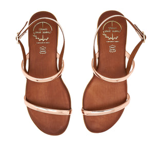 brown leather sandals for women