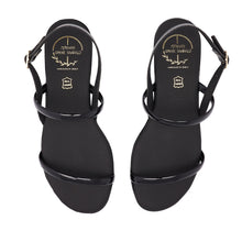 Load image into Gallery viewer, black leather sandals for women