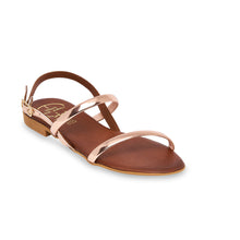 Load image into Gallery viewer, brown leather sandals for women