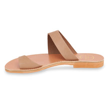 Load image into Gallery viewer, nude nubuck leather sandals