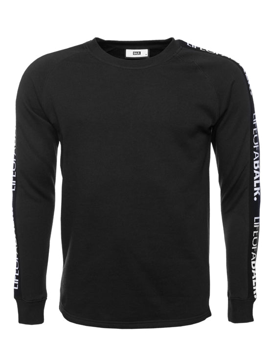 BALR LIFEOFABALR Tape Crew Neck Sweater Black