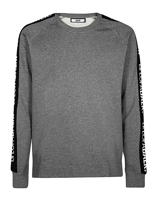 BALR LIFEOFABALR Tape Crew Neck Sweater Grey