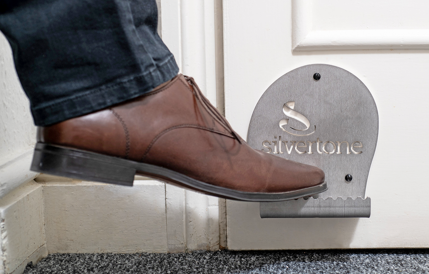 Shoedle... the hands-free door handle