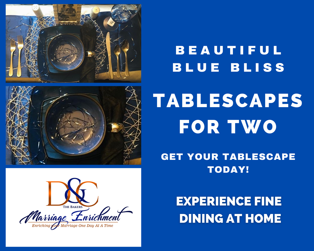 Beautiful Blue Bliss - Tablescapes for Two