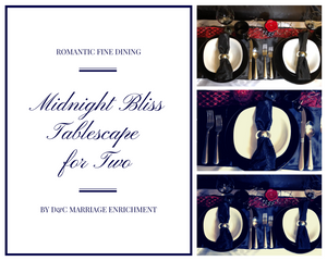 Midnight Bliss - Tablescapes for Two