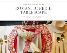 Load image into Gallery viewer, Romantic Red II - Tablescapes for Two (Free Shipping)