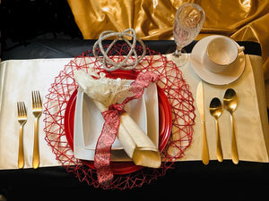 Romantic Red II - Tablescapes for Two (Free Shipping)