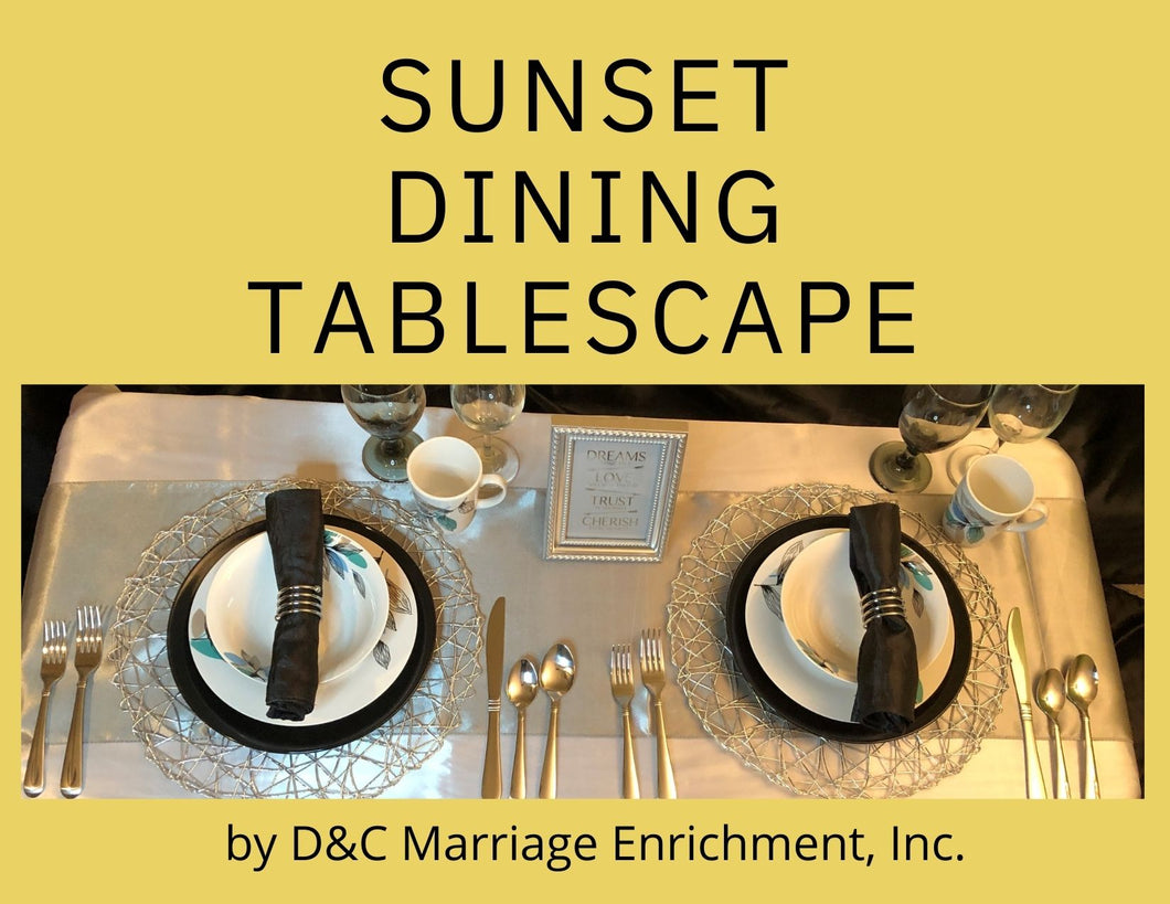 Sunset Dining - Tablescapes for Two