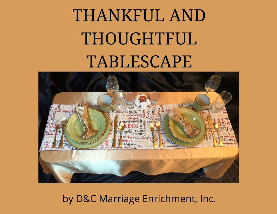 Thankful and Thoughtful Dining - Tablescapes for Two