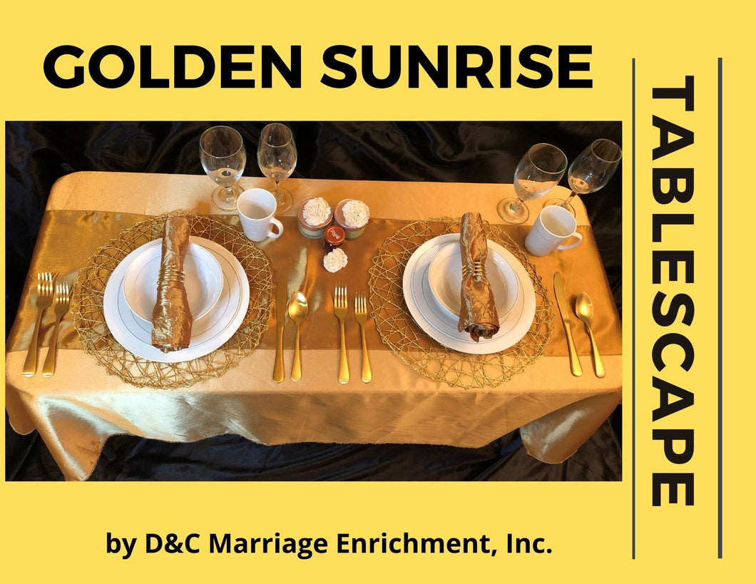 Golden Sunrise Dining - Tablescapes for Two