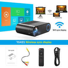 Load image into Gallery viewer, Mini LED 720P Portable Wireless Projector